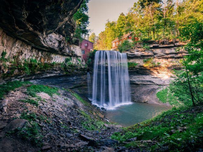 cascada ontario canada naturaleza wallpaper