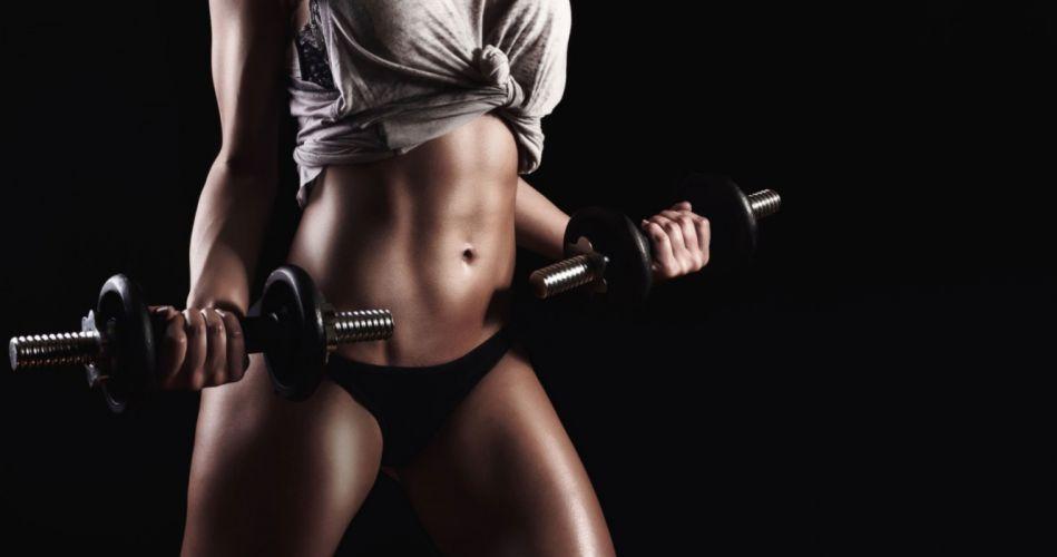 SPORTS girls-sexy-women-model-dumbbells-fitness-exercise-belly wallpaper