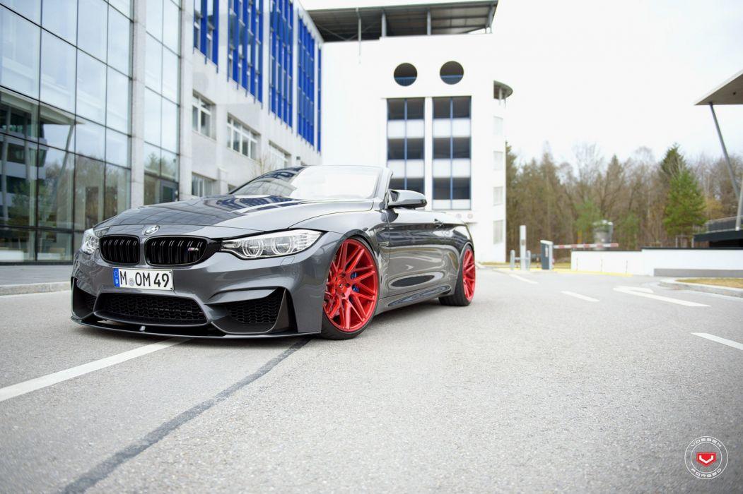 BMW (M4) convertible Vossen wheels cars wallpaper
