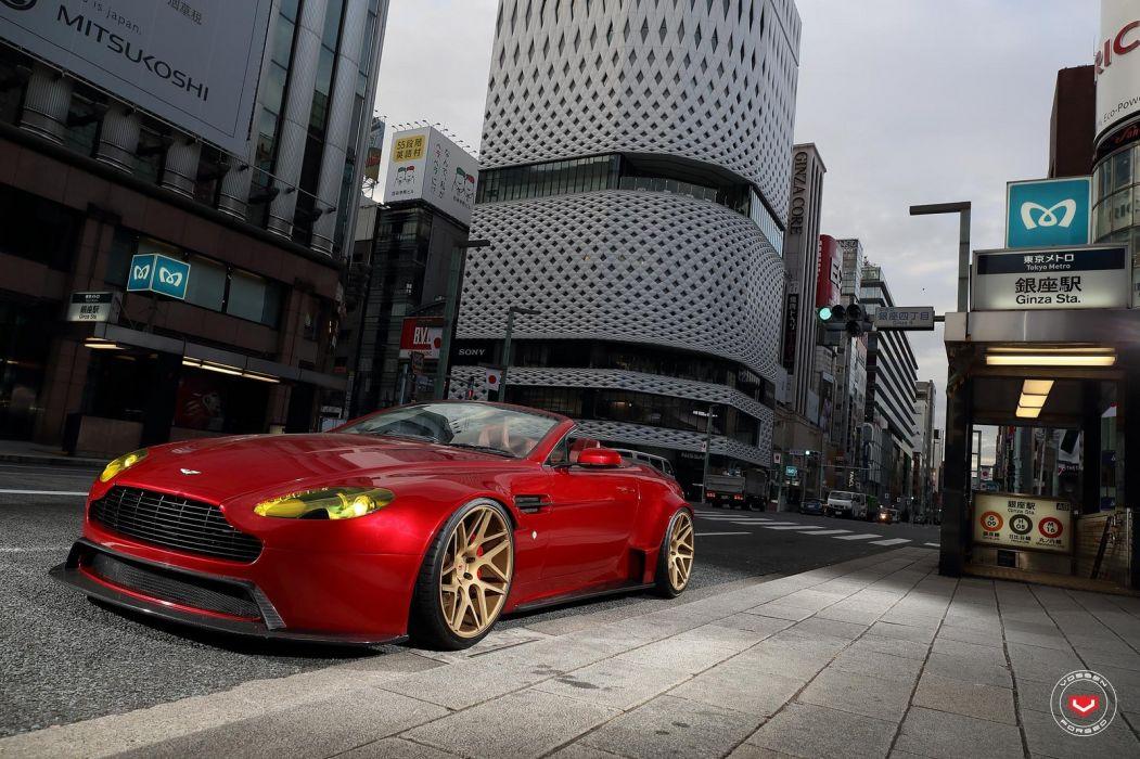 Aston Martin Vantage Vossen wheels cars wallpaper