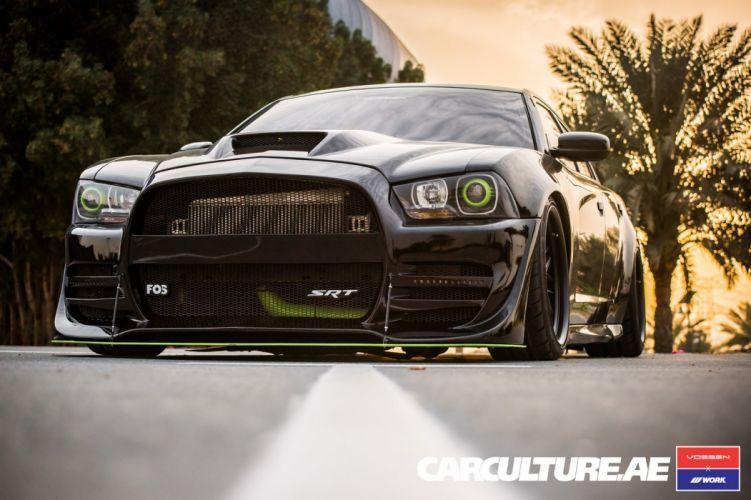 Dodge Charger SRT Vossen wheels cars wallpaper