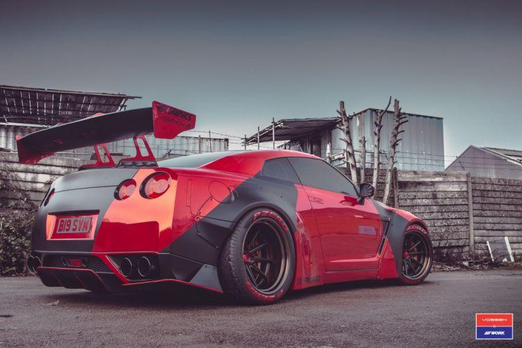 Nissan GTR bodykit Vossen wheels cars wallpaper