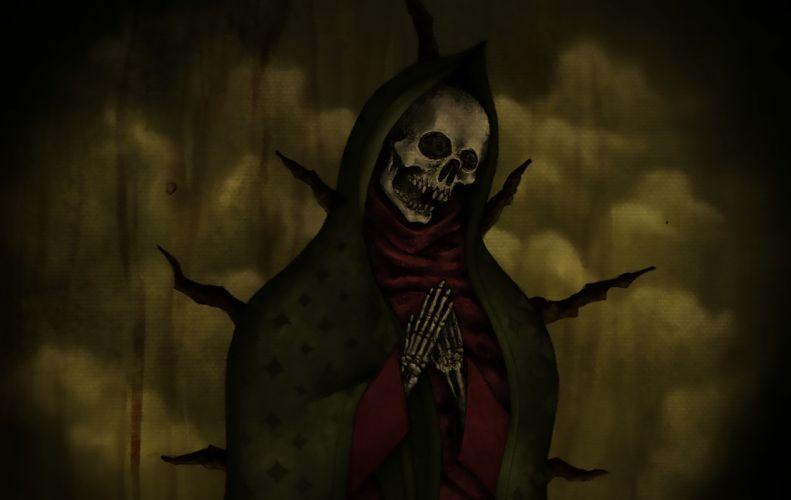 Madonna Skull wallpaper
