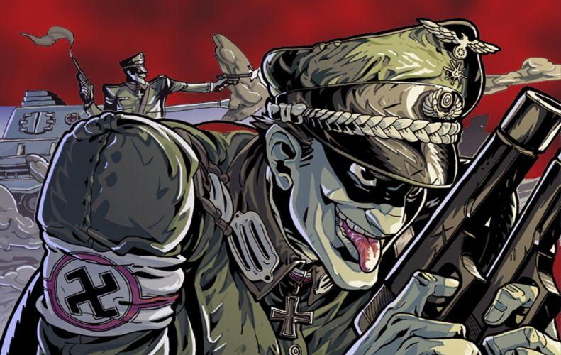 Waffen SS Cartoon wallpaper