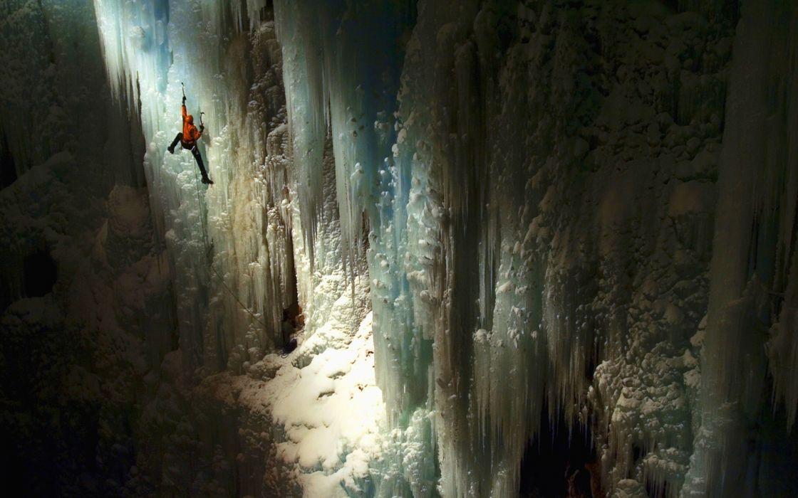 sports climbing winter ice people wallpaper
