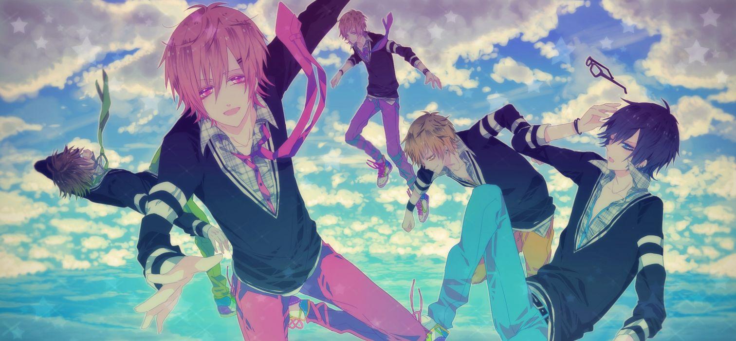 original ibuki sky fly boys anime clods wallpaper