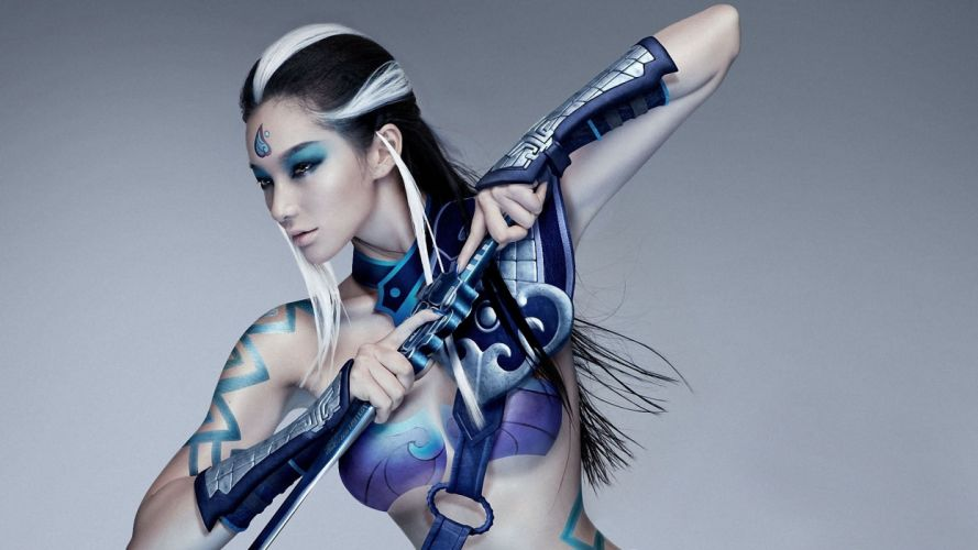 Cosplay girls-women-dagger-princess wallpaper