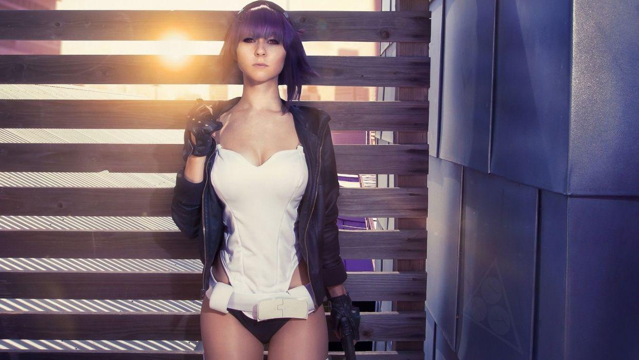 Cosplay girls-women-light-lilac wallpaper