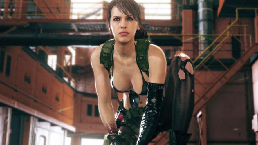 Cosplay girls-women-sexy-metal-gear-solid-ripped wallpaper