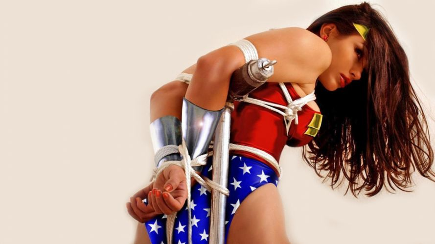 Cosplay girls-women-wonder-tied wallpaper