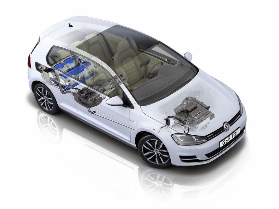 Volkswagen Golf TGI BlueMotion 3-door (Typ 5G) cars cutaway 2013 wallpaper