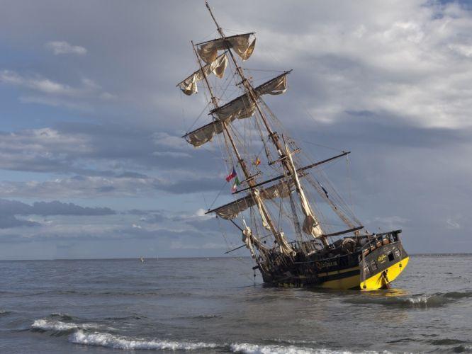 barco vela oceano navegar wallpaper