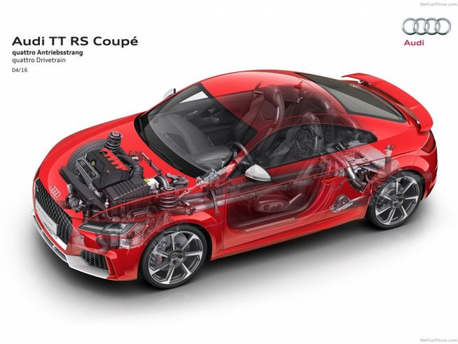 Audi TTRS coupe cars cutaway 2017 wallpaper