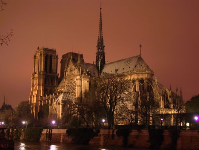 catedral Notre Dame francia arquitectura wallpaper