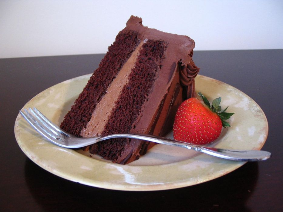 sweet fork chocolate red mousse bakery slice cake abstract strawberry plate dessert wallpaper
