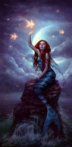maid Art fantasy art mermaid woman wallpaper