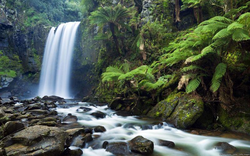 nature waterfall landscape wallpaper