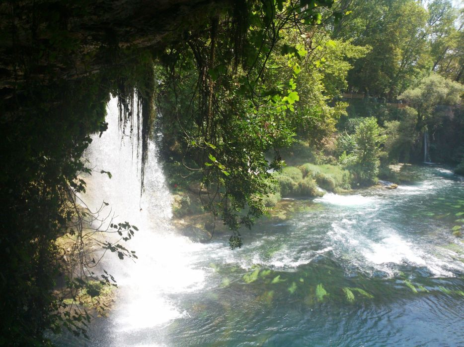 turkey antalya water rivers waterfalls nature wallpaper