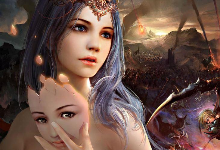 ruoxing zhang mask fantasy girl beauty game woman wallpaper