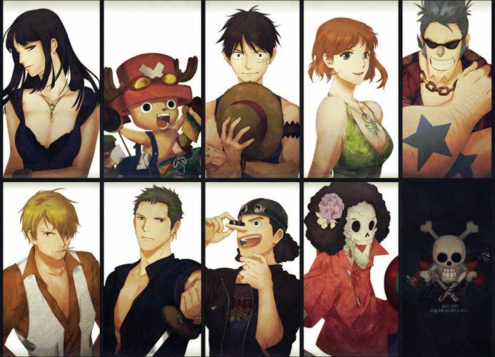 one piece nami monkey d+luffy nico robin roronoa zoro original anime series group guys boys girls zis wallpaper