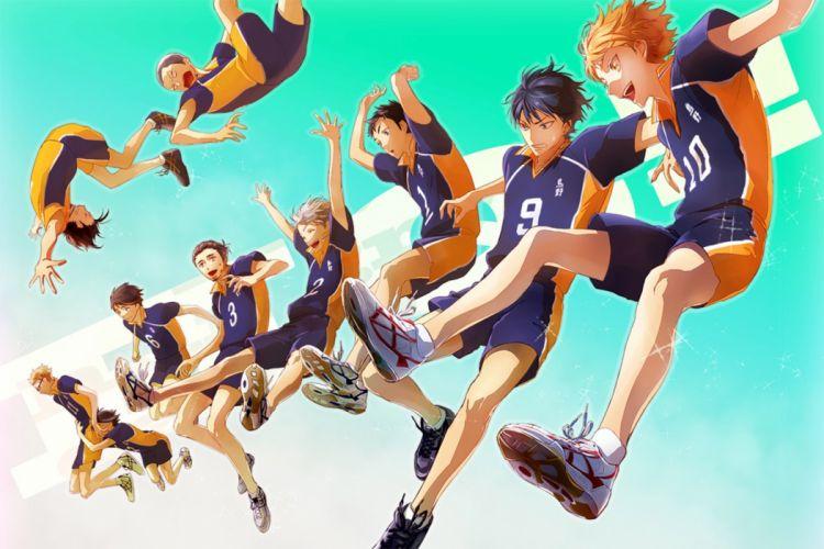 joka original anime series group guys boys haikyuu wallpaper