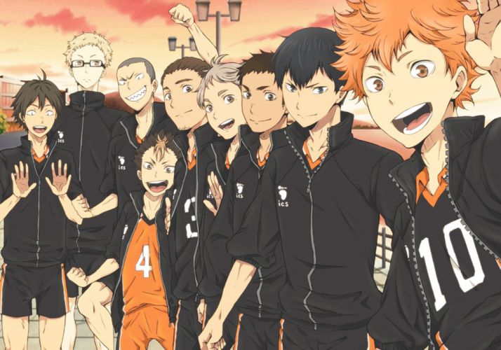 original anime series group guys boys haikyuu wallpaper