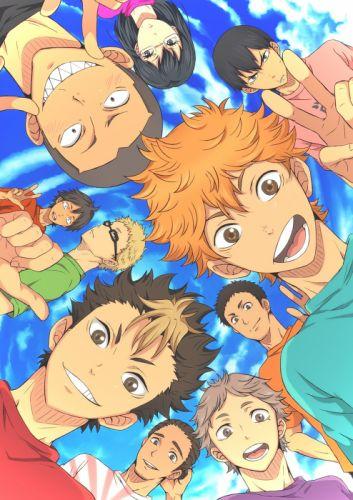 smile original anime series group guys boys haikyuu wallpaper