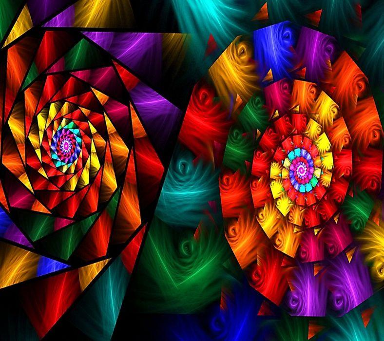 Spiral Glass wallpaper