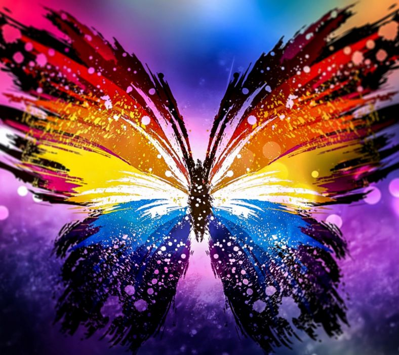 Butterfly Rainbow wallpaper