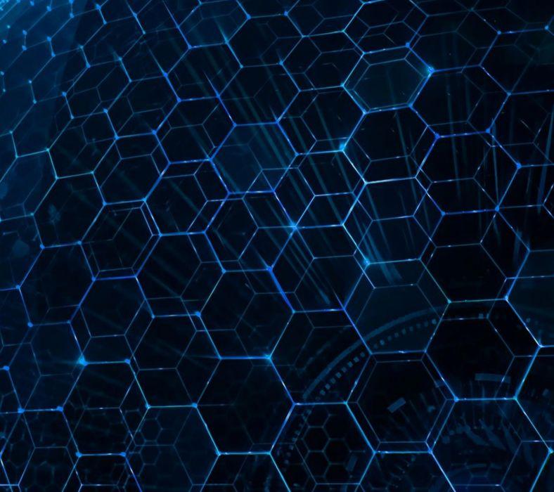 Blue DNA wallpaper