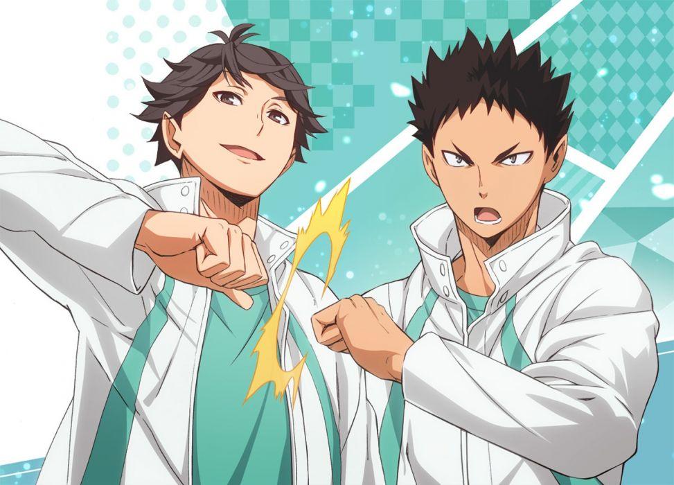 haikyuu ooikawa tooru iwaizumi hajime nyoronyoro short hair anime series characters boys haikyuu original wallpaper