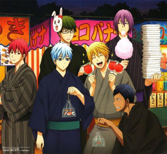 Kuroko no Basket Series Daiki Aomine Character Seijuro Akashi Character anime wallpaper