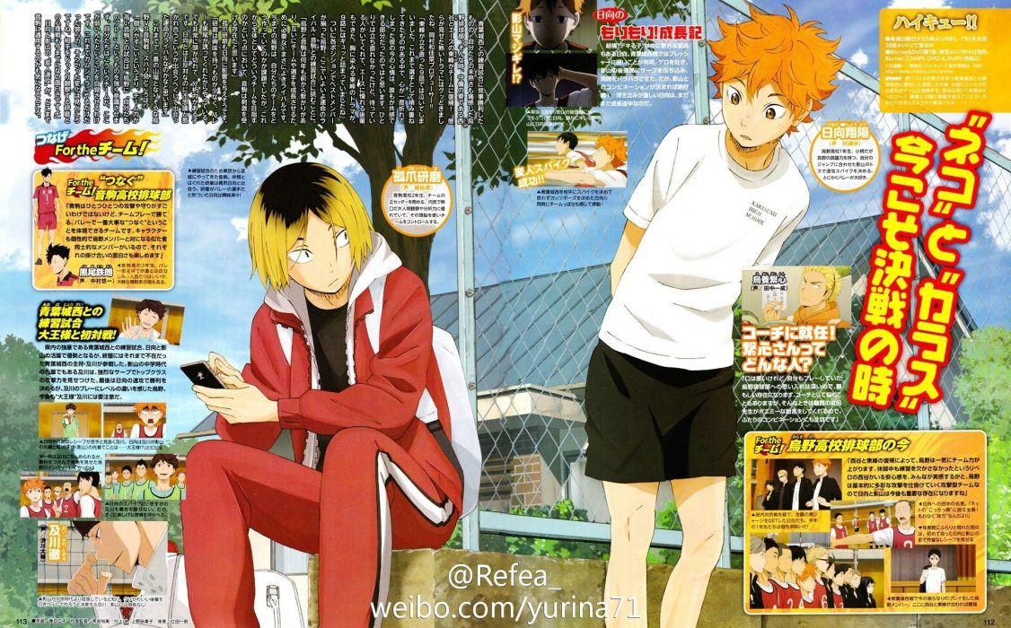 Haikyuu!! Series Kenma Kozume Character Shouyou Hinata Character wallpaper