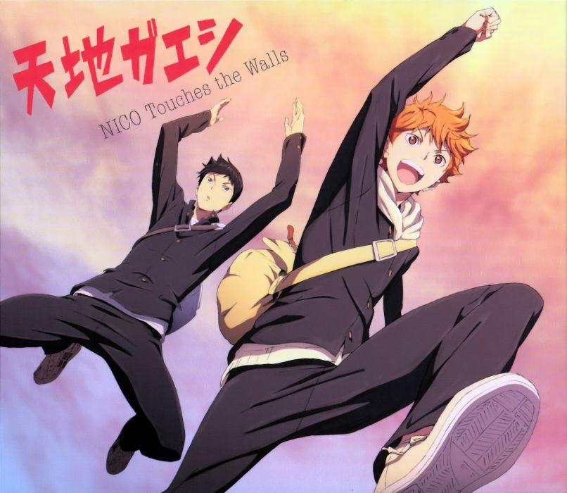 Haikyuu!! Series Shouyou Hinata Character Tobio Kageyama Character smile wallpaper
