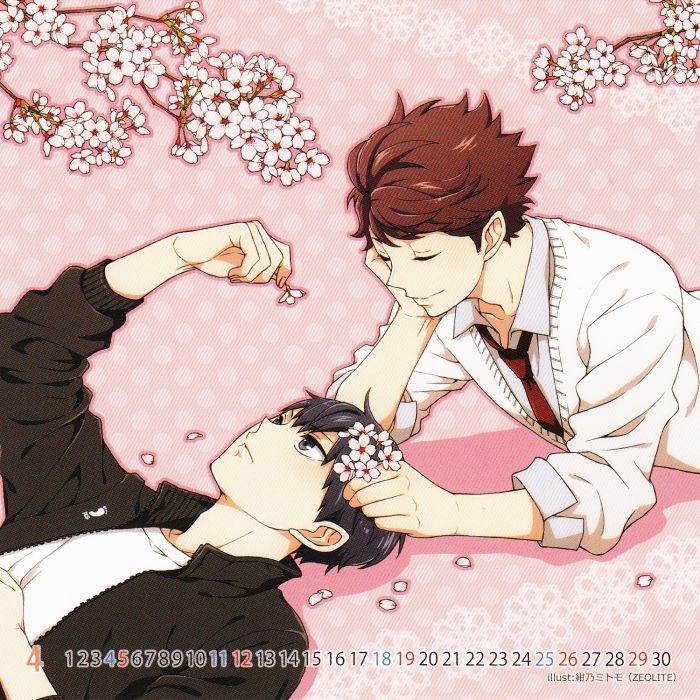 Tooru Oikawa (Haikyu!!) Character Tobio Kageyama Character Calendar Source wallpaper