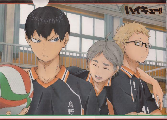 cute Haikyuu!! Series Kei Tsukishima Character Tobio Kageyama Character wallpaper