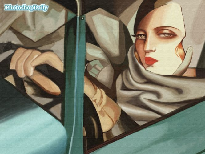abstracto mujer auto pay wallpaper