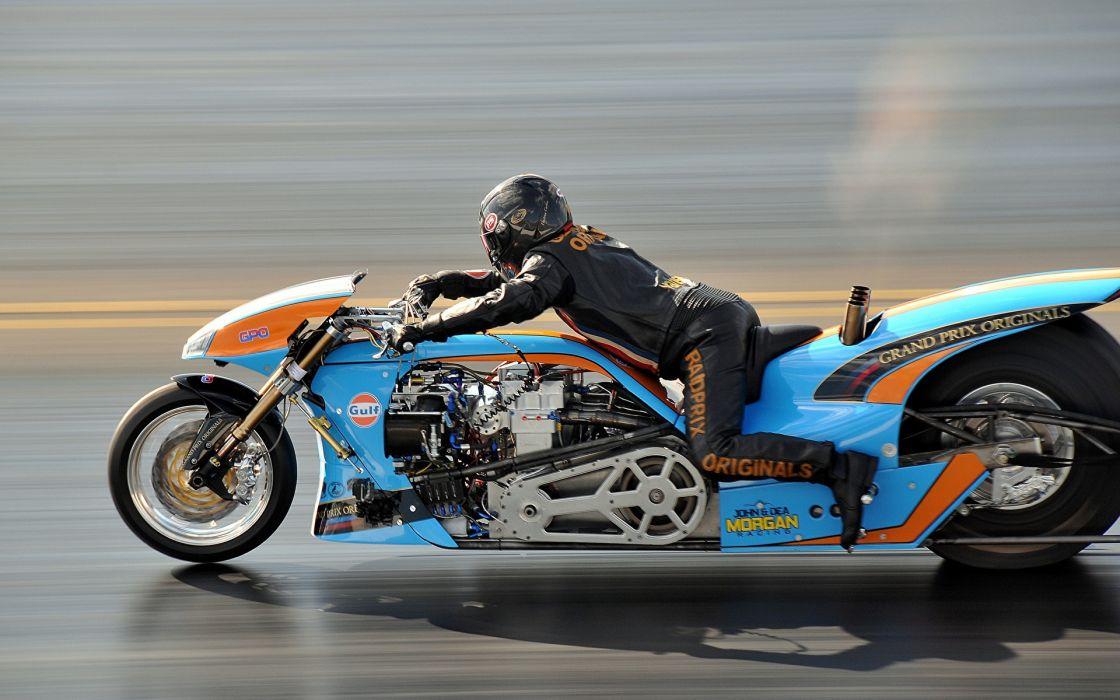 Machines motorcycle-motorcyclist-drag-racing wallpaper