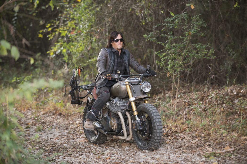 Machines Serie The Walking Dead Daryl Motorcycle Motorcyclist Wallpaper