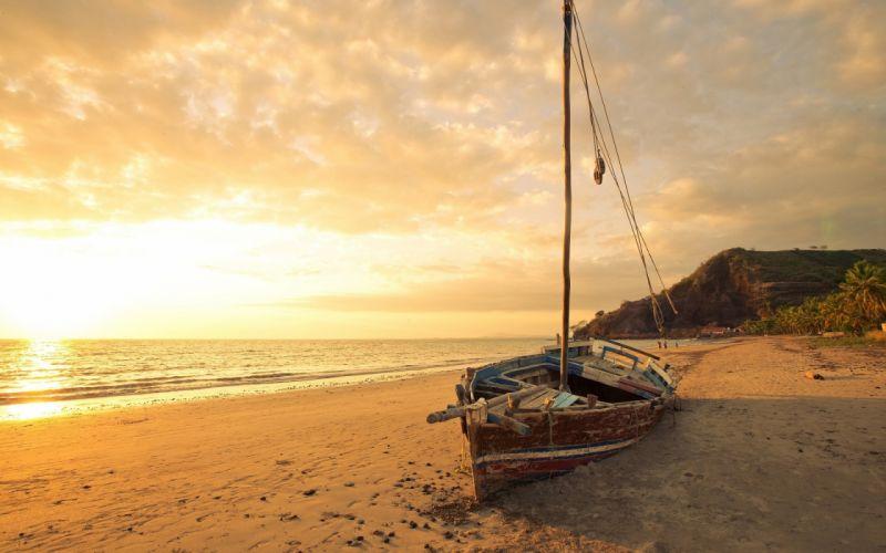 Photography sailboat-sea-ocean-sky-beach-sand wallpaper