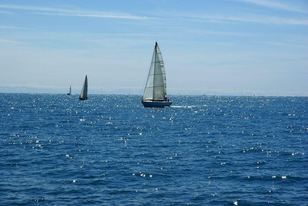 Photography sailboats-sea-ocean-sky-blue wallpaper