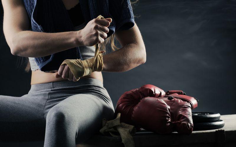 Sports girls-women-fitness-athletic-body-exercise-boxing-gloves-hands wallpaper