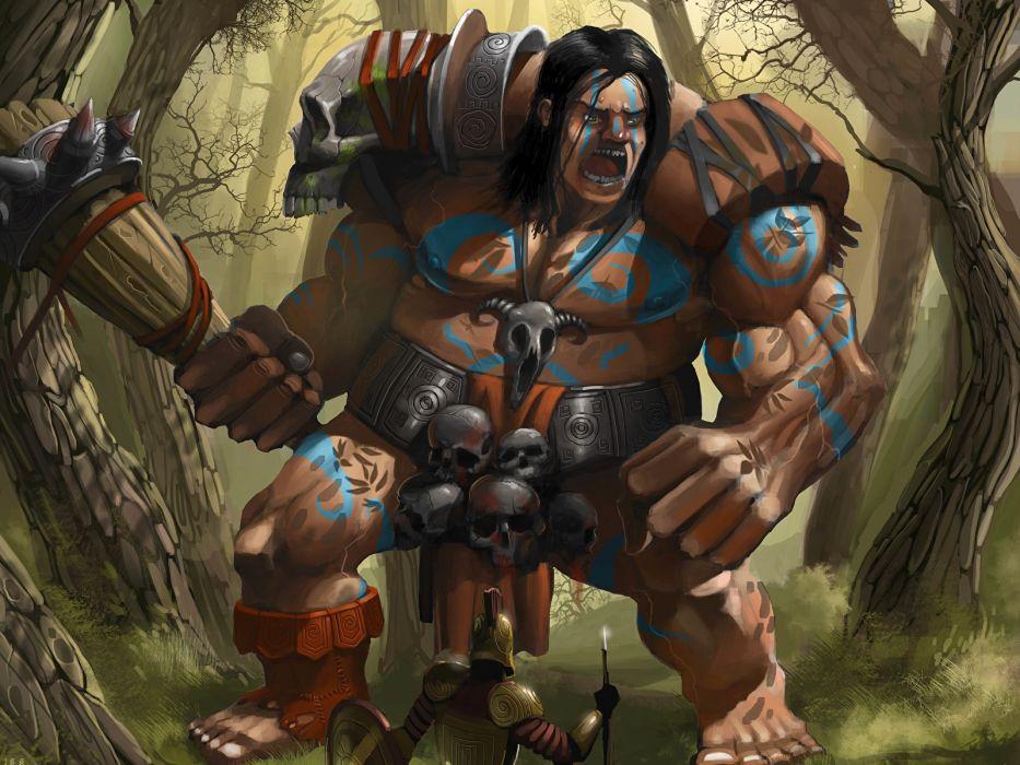 gigante guerrero fantasias armas wallpaper