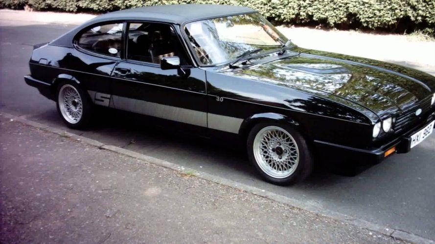 coche ford capri negro wallpaper