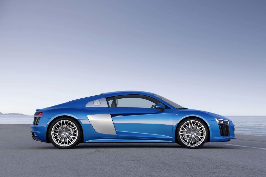 2017 Audi (R8) cars blue wallpaper