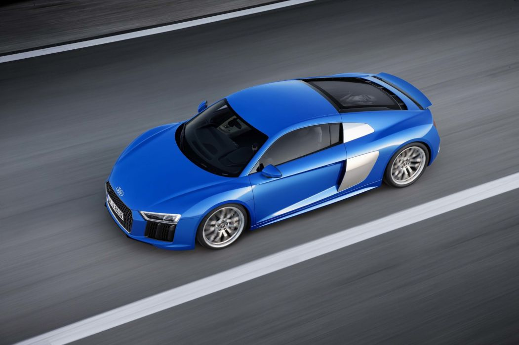 2017 Audi (R8) cars blue wallpaper