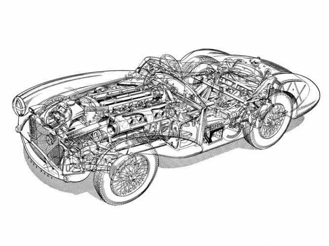 Aston Martin DB3S-6 Cutaway Classic Race Car wallpaper