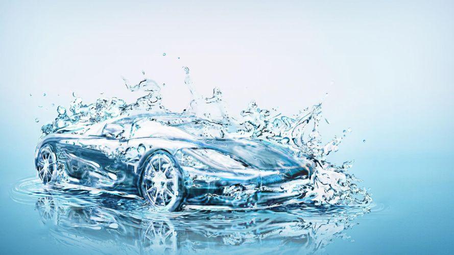 Arts water-car-artistic wallpaper