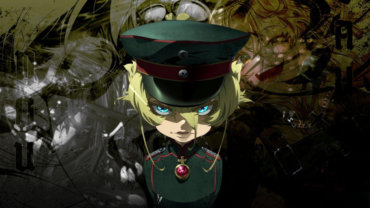 youjo senki soldier major abstract tanya psicopat war gun sniper magic wallpaper