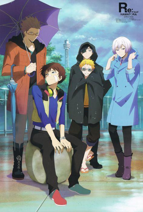 rain hamatora character anime series group guys wallpaper